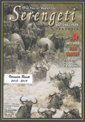Tourist Map of the Serengeti National Park with Photographic Check List by Veronica Roodt