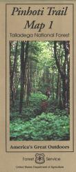 Talladega National Forest: Pinhoti Trail Map 1 by United States Forest Service