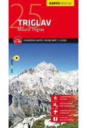 Mount Triglav Hiking Map by Kartografija