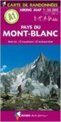 Alps 1:50,000 Hiking Map Sheet A1 - Pays du Mont Blanc with Aravis, Chamonix, Courmayeur by Rando Editions