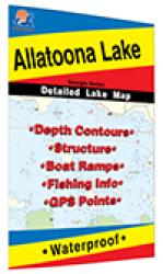 Allatoona Lake map by Fishing Hot Spots