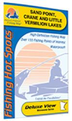 Sand Point, Crane, and Little Vermilion Lakes Fishing Map by Fishing Hot Spots