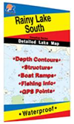 Rainy Lake South Fishing Map by Fishing Hot Spots