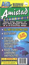 Amistad Reservoir Fishing Map by A.I.D. Associates