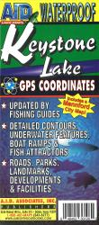 Keystone Lake Fishing Map by A.I.D. Associates