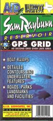 Sam Rayburn Reservoir Fishing Map by A.I.D. Associates