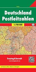 Germany, Postal Codes by Freytag, Berndt und Artaria