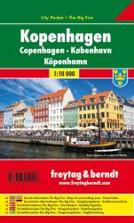 Copenhagen, Denmark, City Pocket Map by Freytag, Berndt und Artaria