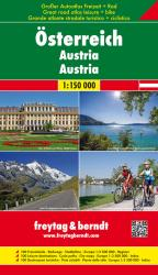 Austria: Road, Cycling and Leisure Atlas by Freytag, Berndt und Artaria