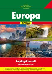 Europe, Road Atlas, Soft Cover by Freytag, Berndt und Artaria