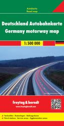 Germany Motorway Map by Freytag-Berndt und Artaria