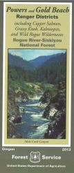 Rogue River National Forest - Powers & Gold Beach Ranger District Map by United States Forest Service