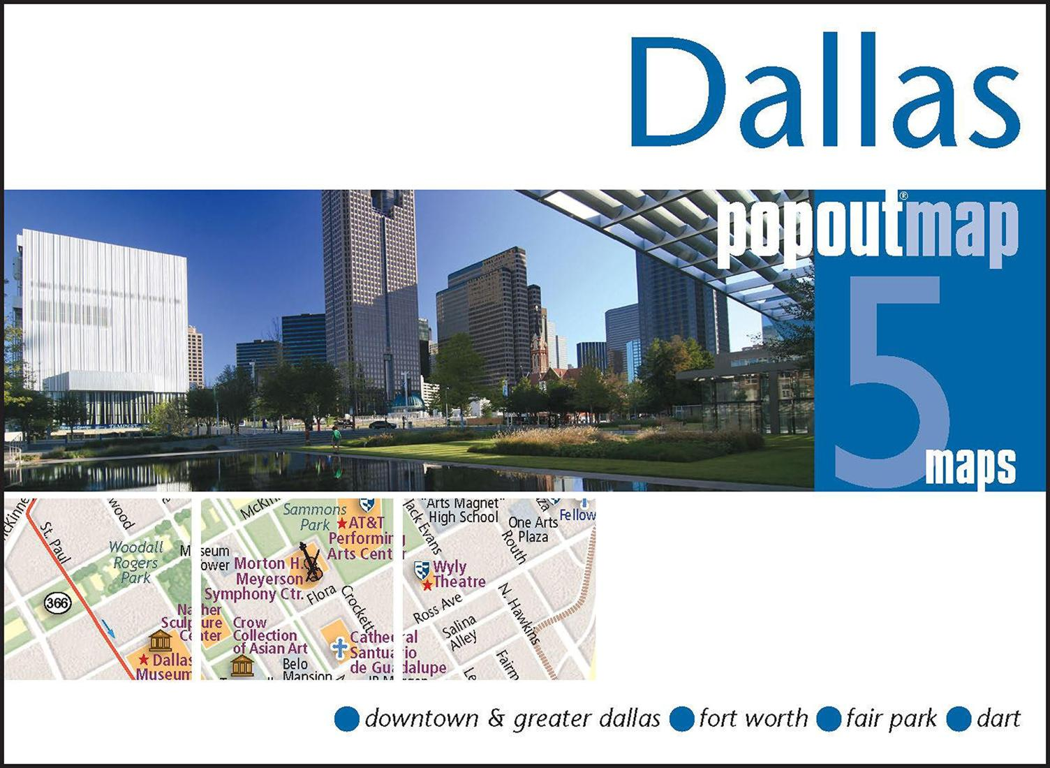Dallas Texas Popout Map By Popout Products