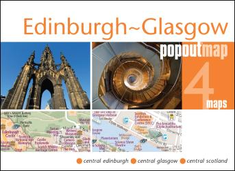 Edinburgh and Glasgow, Scotland, PopOut Map by PopOut Products