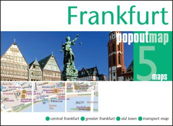 Frankfurt, Germany, PopOut Map by PopOut Products, Compass Maps Ltd.