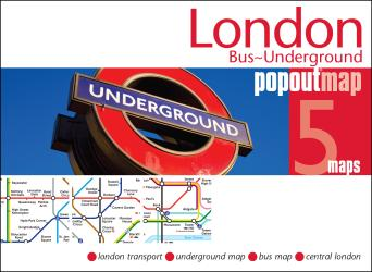 London, England, Bus and Underground PopOut Map by PopOut Products, Compass Maps Ltd.