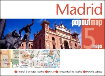 Madrid, Spain, PopOut Map by PopOut Products
