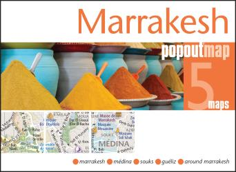 Marrakesh, Morocco, PopOut Map by PopOut Products