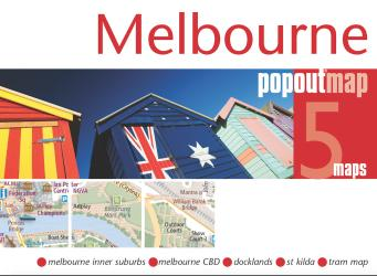 Melbourne, Australia, PopOut Map by PopOut Products