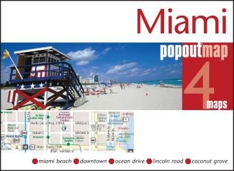 Miami, Florida, PopOut Map by PopOut Products