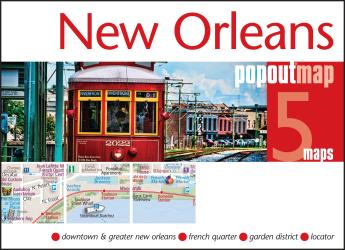 New Orleans, Louisiana, PopOut Map by PopOut Products