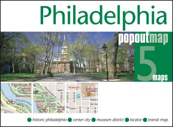 Philadelphia, Pennsylvania, PopOut Map by PopOut Products