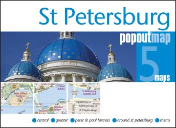 St Petersburg, Russia, PopOut Map by PopOut Products