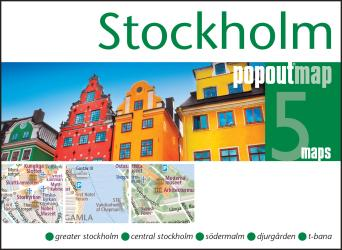 Stockholm, Sweden, PopOut Map by PopOut Products