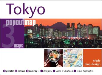 Tokyo, Japan, Triple PopOut Map by PopOut Products