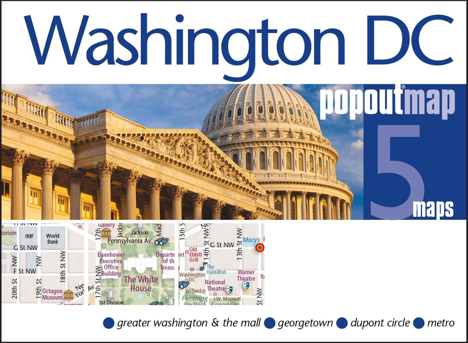 Washington DC PopOut Map By PopOut Products - Washington dc popout map