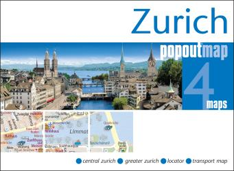 Zurich, Switzerland, PopOut Map by PopOut Products