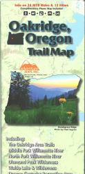 Oakridge, Oregon Trail Map by Adventure Maps