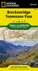 Breckenridge and Tennessee Pass, Colorado, Map 109 by National Geographic Maps