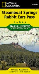 Steamboat Springs and Rabbit Ears Pass, Colorado, Map 118 by National Geographic Maps