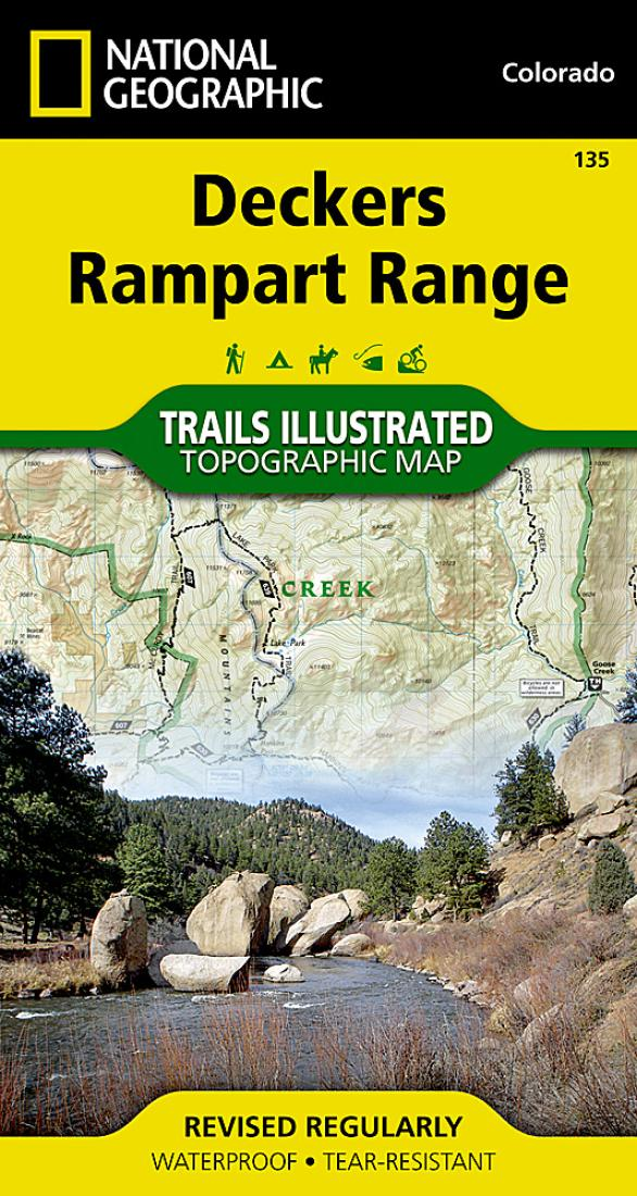 Deckers Colorado Map.Deckers And Rampart Range Colorado Map 135 By National