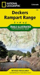 Deckers and Rampart Range, Colorado, Map 135 by National Geographic Maps