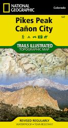 Pikes Peak and Canon City, Colorado, Map 137 by National Geographic Maps