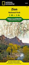 Zion National Park, Map 214 by National Geographic Maps