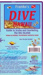 Hawaii Map, Big Island Dive, laminated, 2011 by Frankos Maps Ltd.