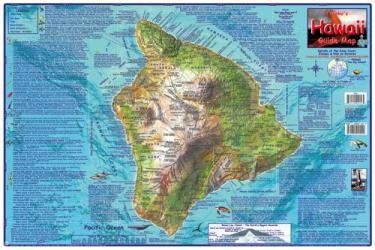 Hawaii Map, Big Island Guide, laminated, May 2007 by Frankos Maps Ltd.