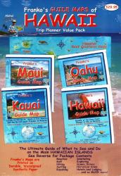 Hawaii Trip Planner Value Pack : Guide Maps of Maui, Oahi, Kauai, and Hawaii, + Reef Creatues Guide card by Frankos Maps Ltd.
