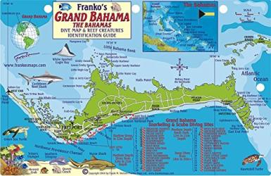 Bahamas Fish Card, Grand Bahama 2010 by Frankos Maps Ltd.