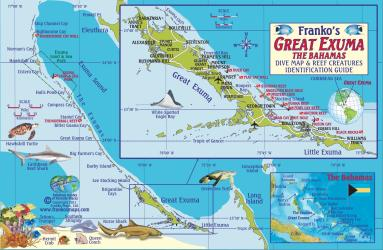 Bahamas Fish Card, Great Exuma Island 2010 by Frankos Maps Ltd.