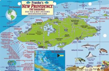 Bahamas Fish Card, New Providence 2011 by Frankos Maps Ltd.