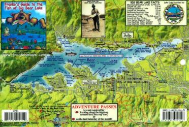 California Fish Card, Big Bear Lake 2009 by Frankos Maps Ltd.