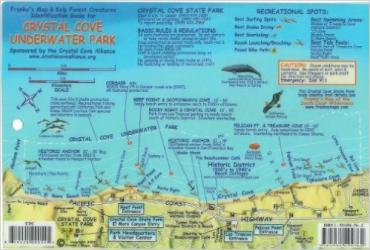 California Fish Card, Crystal Cove 2009 by Frankos Maps Ltd.