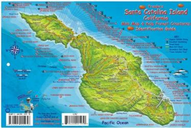California Fish Card, Santa Catalina Island 2008 by Frankos Maps Ltd.
