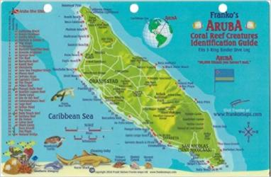 Caribbean Fish Card, Aruba 2010 by Frankos Maps Ltd.