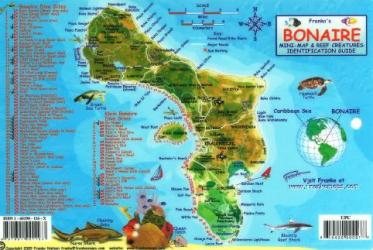 Caribbean Fish Card, Bonaire 2010 by Frankos Maps Ltd.