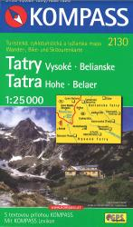 Hohe Tatra-Vysoke Tatry Hiking and Cycling Map by Kompass